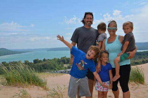 Sleeping Bear Dunes Family Pic