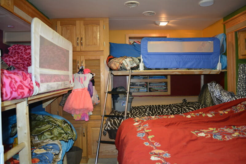 This is where most of the work was done for the RV remodel. We had to fit beds for all the kids in the bedroom.