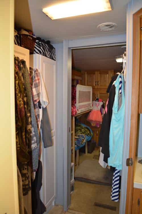 Hallway to the bedroom. Which is also where we have a lot of our clothes.
