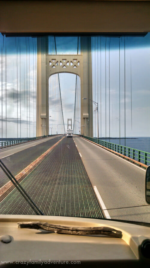 Here is a picture from inside the RV as we drive across the bridge.