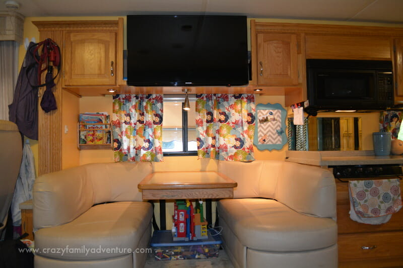 The RV remodel also consisted of removing the old inefficient TV and putting in a smart TV