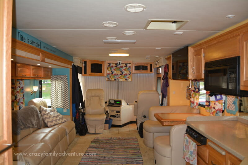 View from the hallway looking towards the front of the RV.