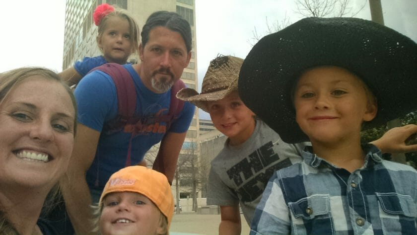 Downtown Nashville family selfie!