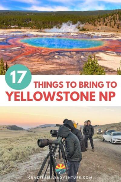 17 things you will want to add to your Yellowstone packing list for a fall, summer or spring trip. A great list if you are going with Kids in June, July, August, September, or October! Good for men and women! Get packing and lets head to Yellowstone National Park!