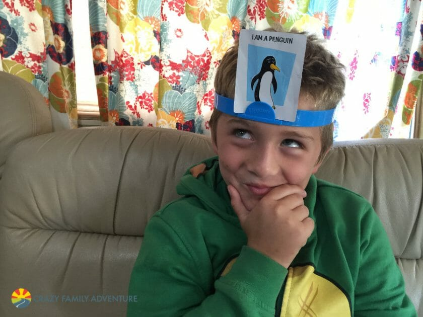 HeadBanz is one of our favorite Family Travel Games