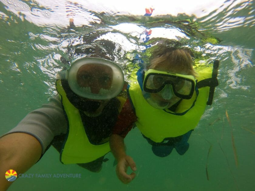 Full Time RV Family Travel included snorkeling in the Florida Keys
