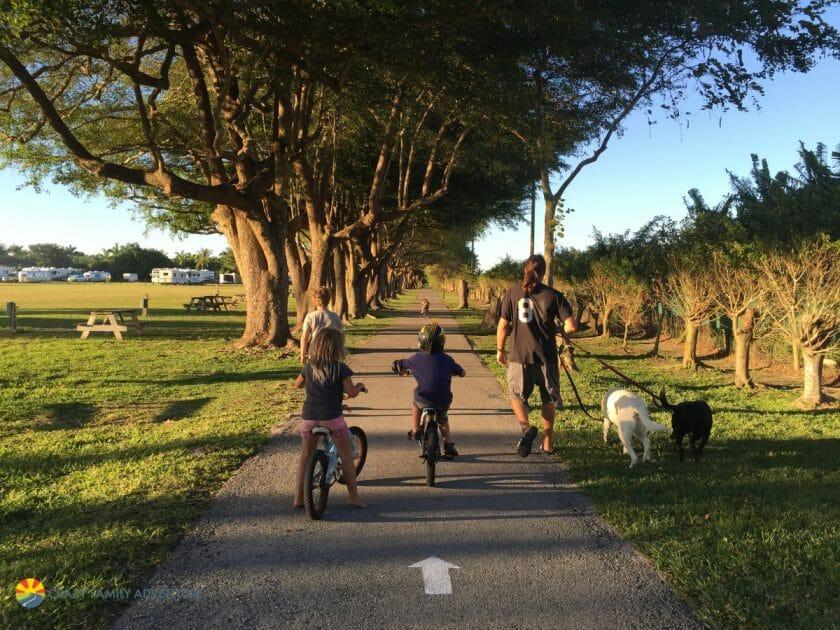 Miami Everglades RV Resort Walking Path