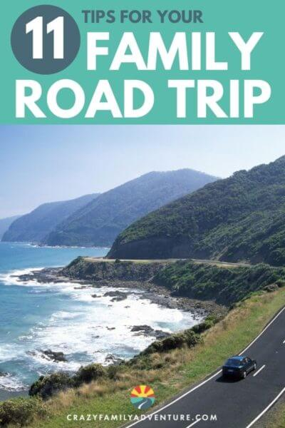Road Trip With Kids: 11 tips to help make the trip more enjoyable for everyone. Ideas on road trip games to play with the kids in the car, road trip bingo, pit stops, rest stops, healthy snacks and more! Check this out and then hit the road for your family road trip!