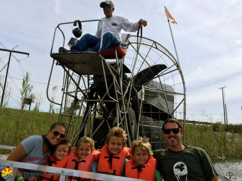 Airboat ride through the Everglades