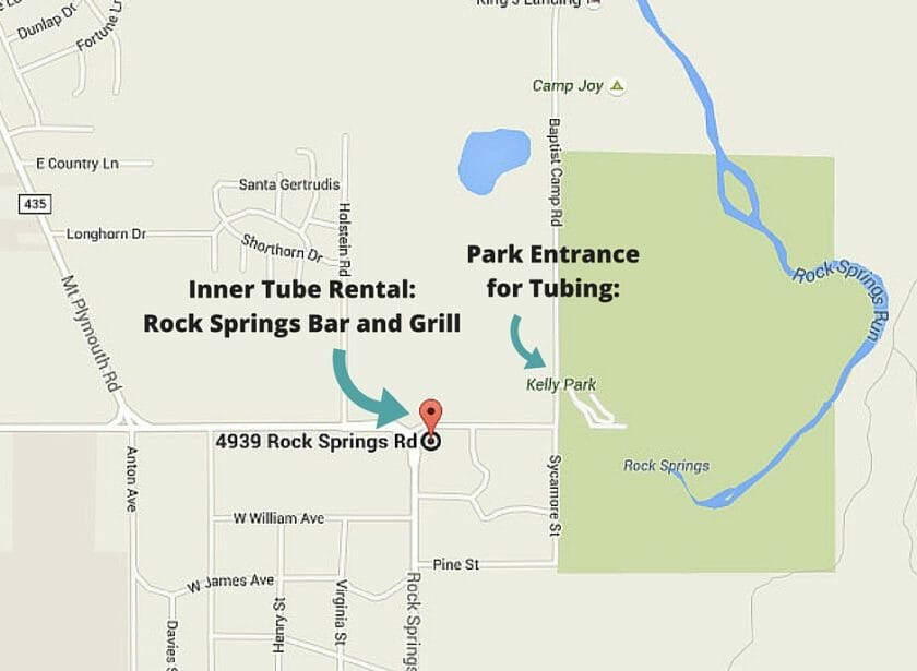 Inner Tube Rental_ Rock Springs Bar and Grill