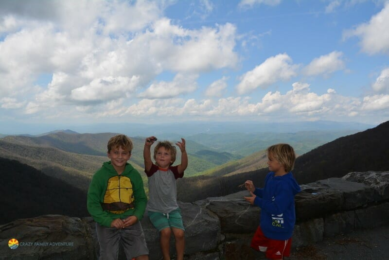 Hiking with kids by Asheville Craggie gardens