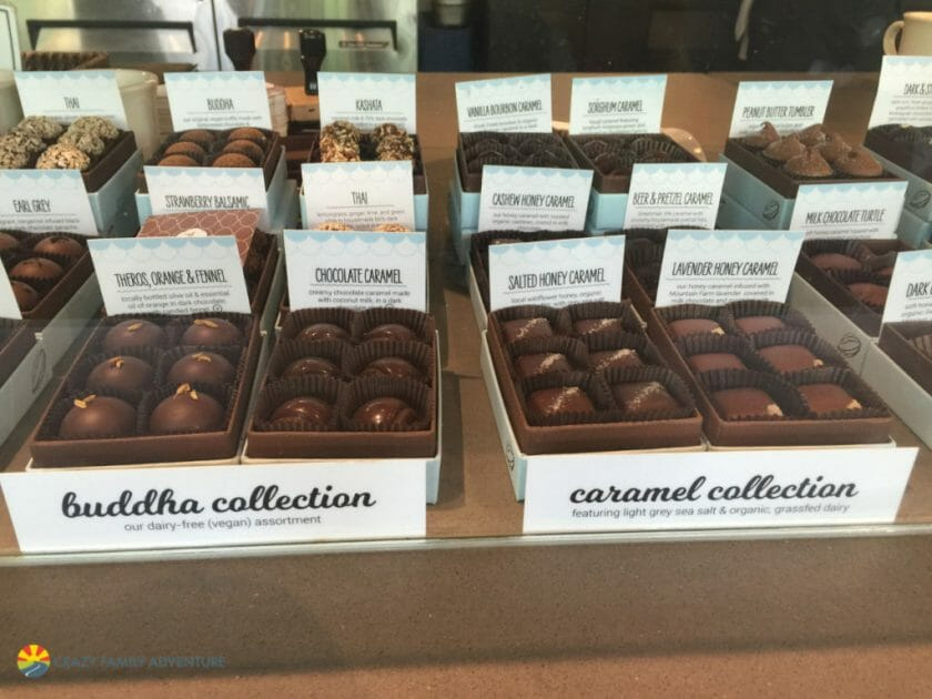 Chocolate tasting is definitely on the list of things to do in Asheville with kids