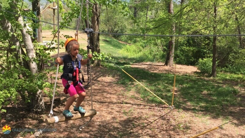 Kids activities in Asheville - Adventure Center ropes course