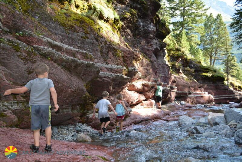 Creek walk in Waterton Lakes National Park in Alberta, Canada