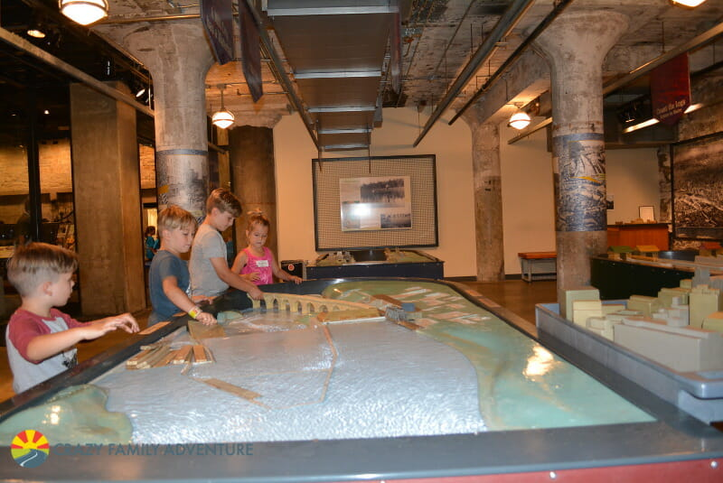 Mill City Musuem in Minneapolis with kids
