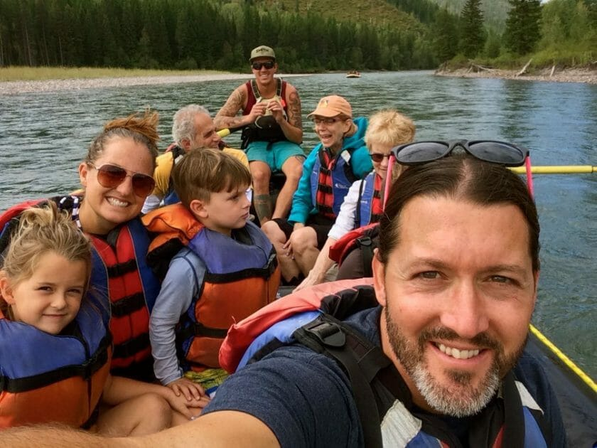 Rafting with kids: aboard the raft