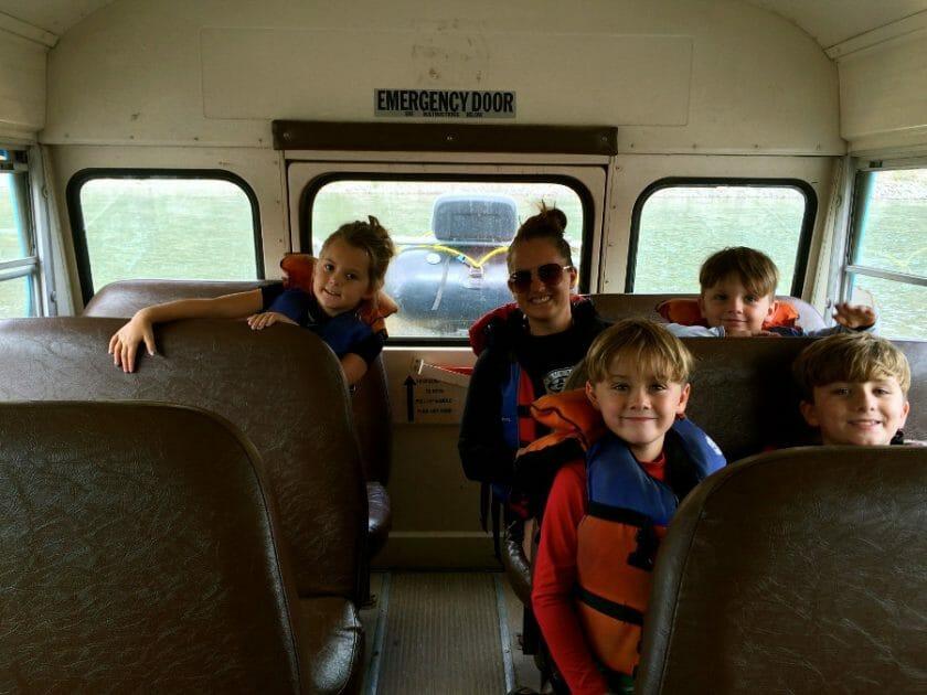 Aboard the Montana Raft Bus