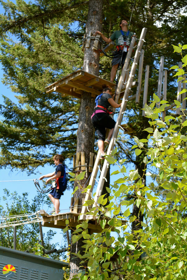 Scaling the Aerial Adventure at Whitefish Mountain Resort