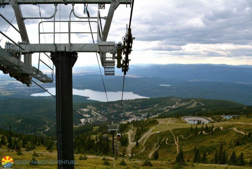 Beautiful overlook from the Whitefish Mountain Resort Scenic Lift