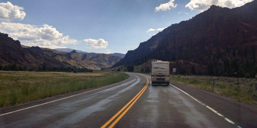 RV down road