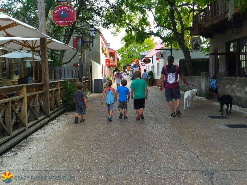 Hit St. George Street in St. Augustine