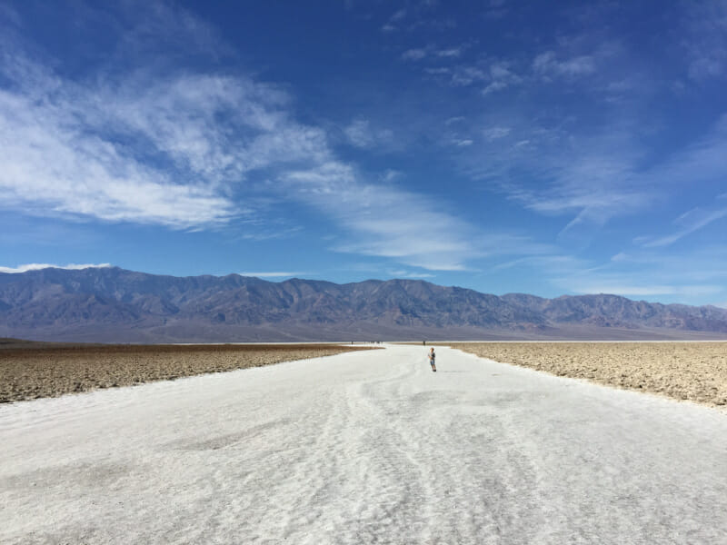 Walking the salt bed in Death Valley National Park