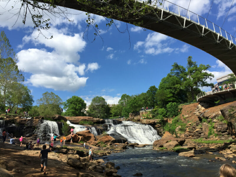 Great city park in Greenville, SC.