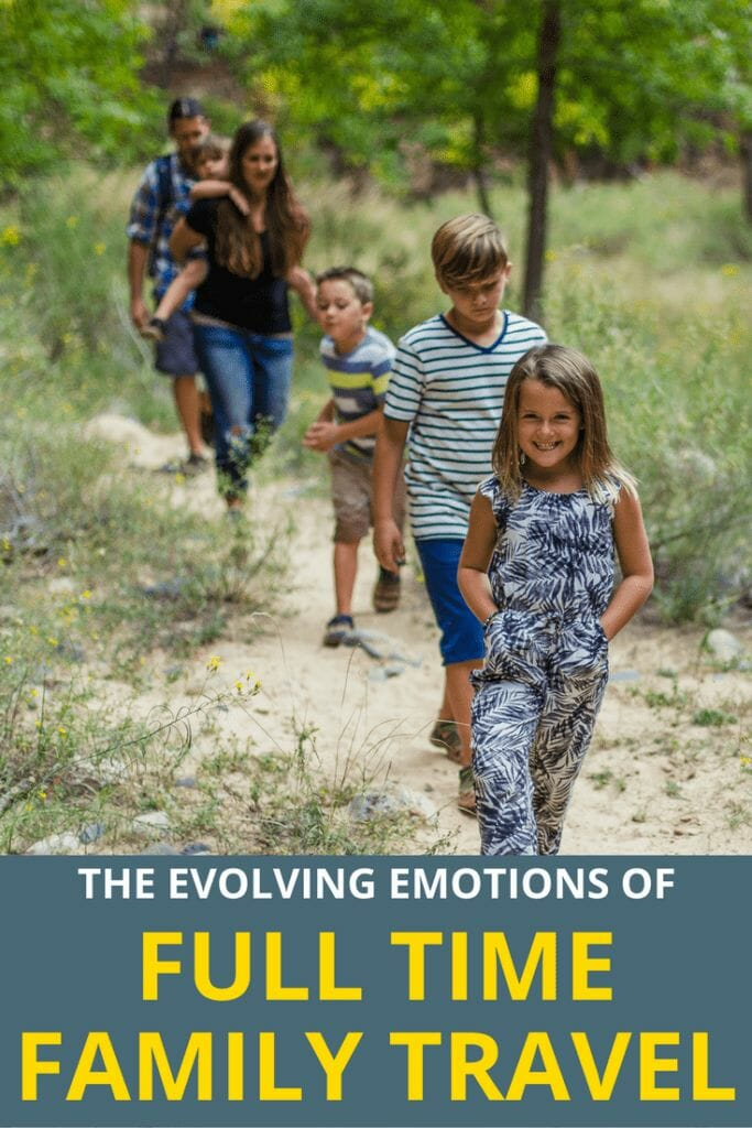 Full time family RV travel and the ever evolving emotions
