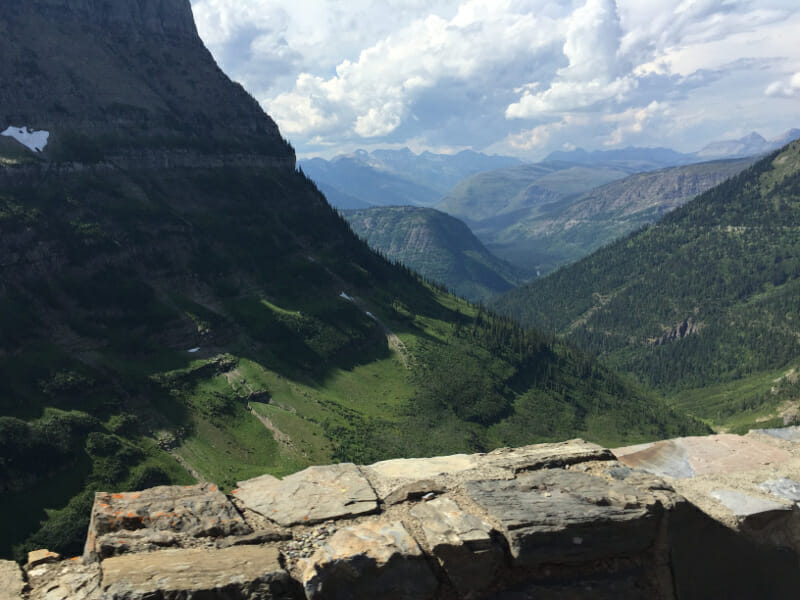 The Going to the sun road is a great thing to do in Glacier National Park with kids.