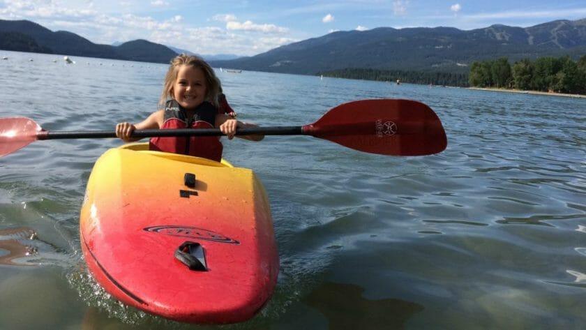 Kayak in whitefish