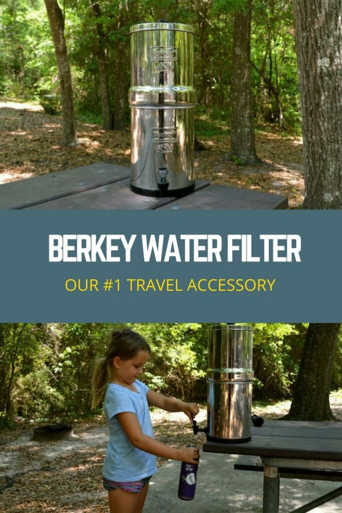 Berkey Water Filter. A great way to get filter water in your RV!