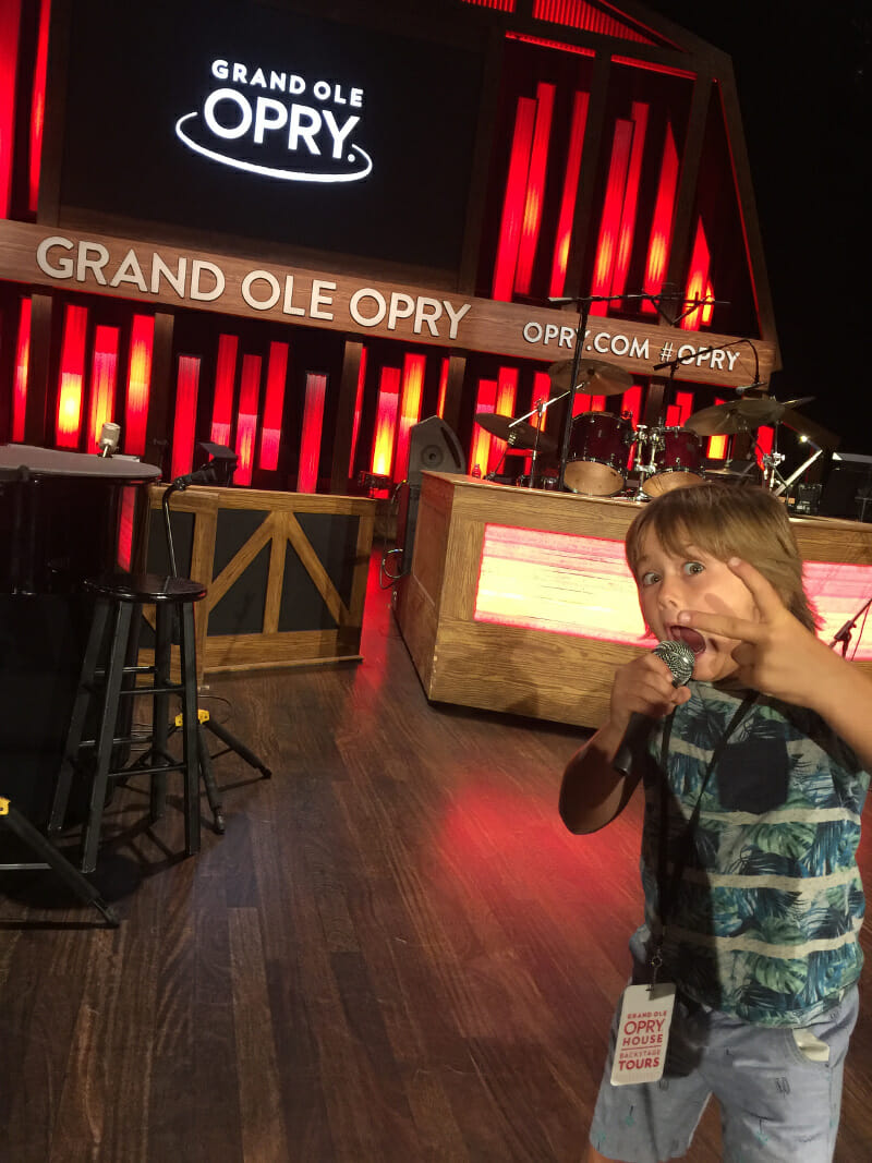On stage at the Grand Ol Opry!