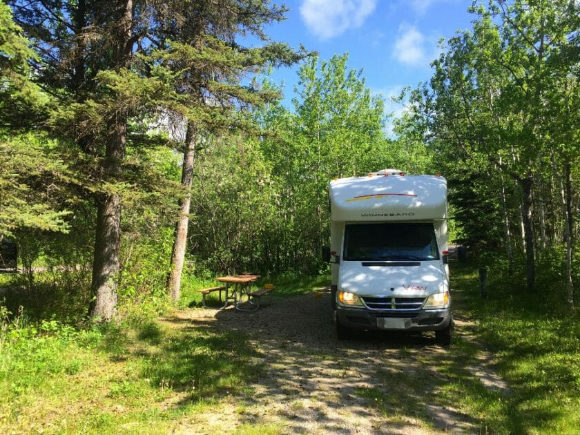 Wasagaming Campground in Riding Mountain National Park