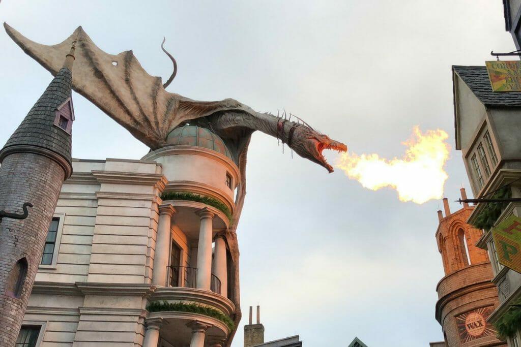 Universal Studios fire breathing dragon