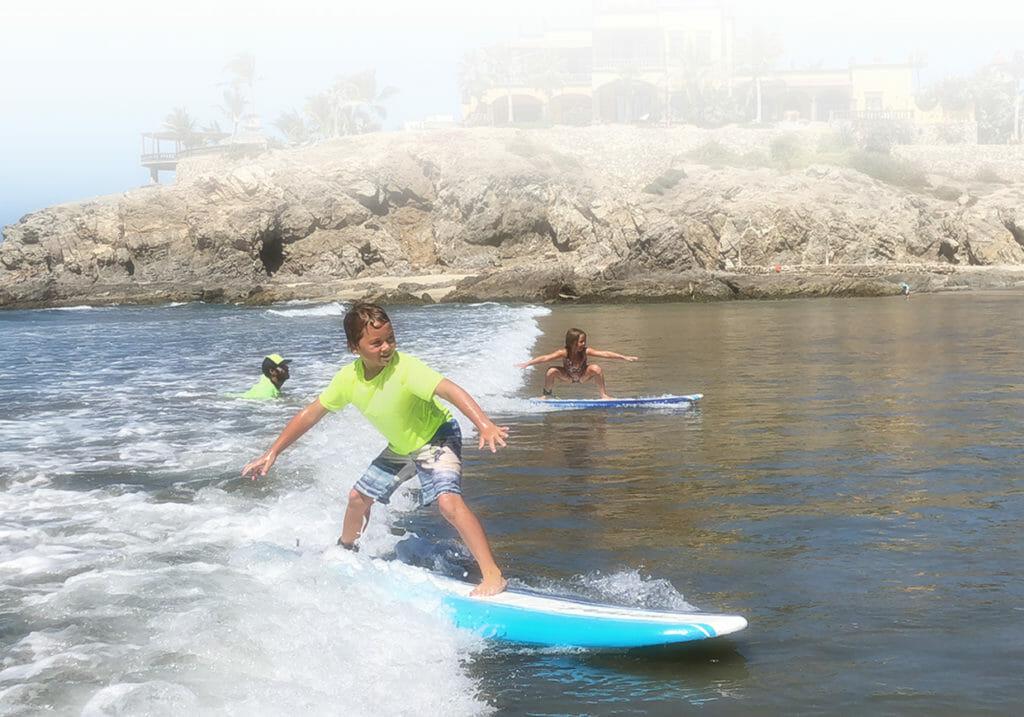 Surfing at Los Cerritos Beach