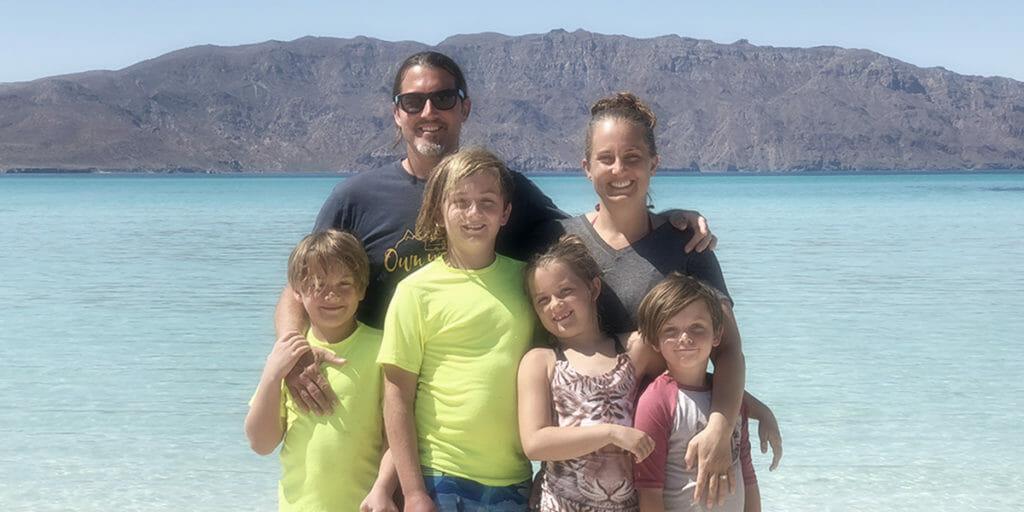 Crazy Family Adventure hanging out on Coronado Island, Loreto, Baja, Mexico.