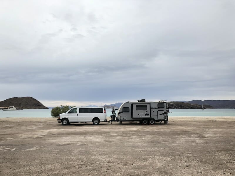 Baja camping by the beach