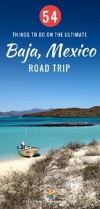 When taking a road trip through Baja California in Mexico you are going to travel to beautiful and awe-inspiring locations. You can see whales and gorgeous beaches along with these 54+ other things to do! Come see the map of our trip along with all of the camping spots we stayed at.