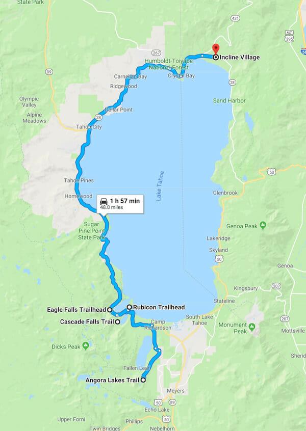 hiking trails in lake tahoe