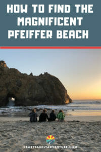How to find the magnificent Pfeiffer Beach in Big Sur California. This hard to find beach isn't easy to find but it is well worth it! Check out our post for all the details on how to get there.
