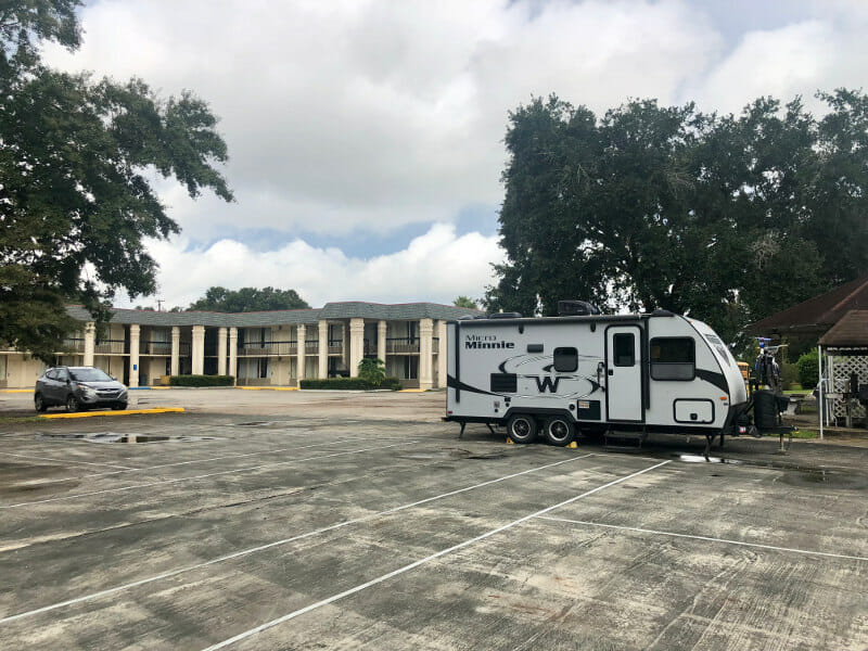 RV parking by the hotel