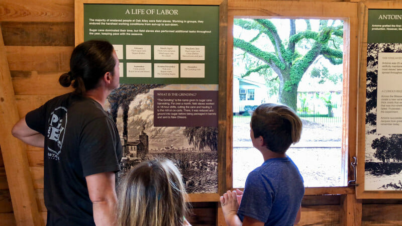 learning about slavery at the plantation