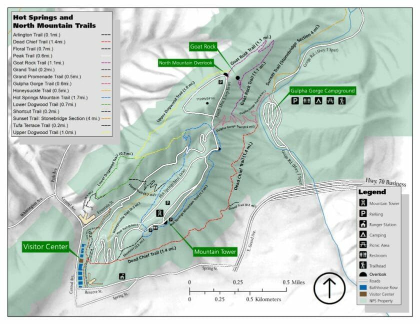 hot spring map