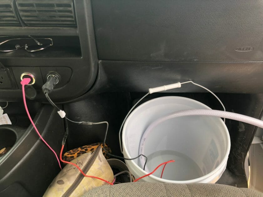 Running the pump system from the car