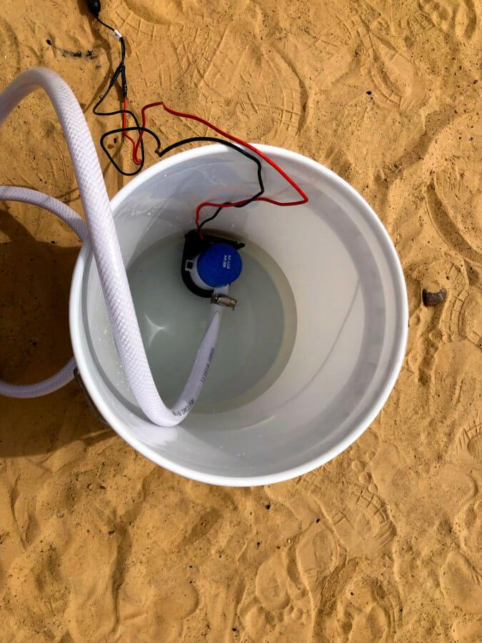 Pump in bucket