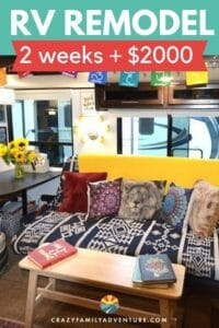 RV Remodel in 2 weeks for $2000! Check out the amazing before and after pictures on this bohemian Jayco travel trailer makeover! Get great DIY Ideas on how to do your own RV Makeover.