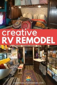 Check out this creative RV remodel with awesome before and after pictures! Great ideas on how to DIY an RV Makeover on a budget!