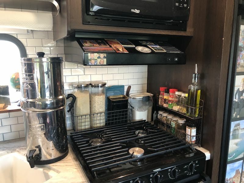area by stove