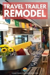 Check out this amazing Travel Trailer remodel including before and after pictures. Great DIY ideas and tips on how to do an RV Makeover. The RV interior design on this Jayco trailer is awesome!