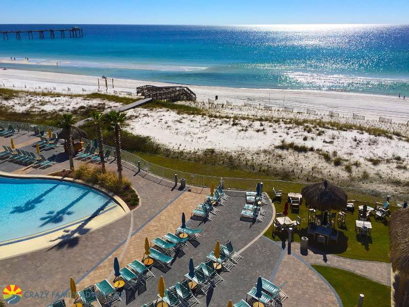 Holiday Inn Beach is on the other side of the bridge from Destin but is a beautiful place to stay!